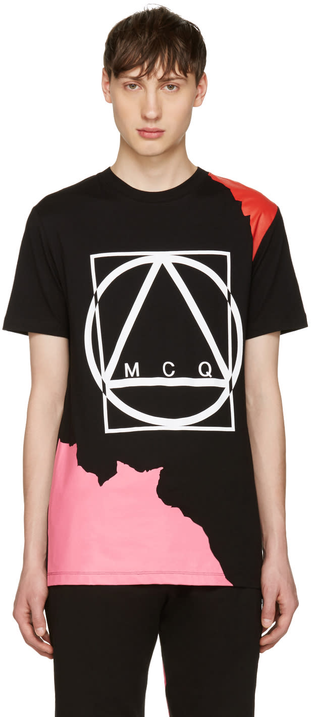 Mcq Alexander Mcqueen Black Abstract Icon T-shirt