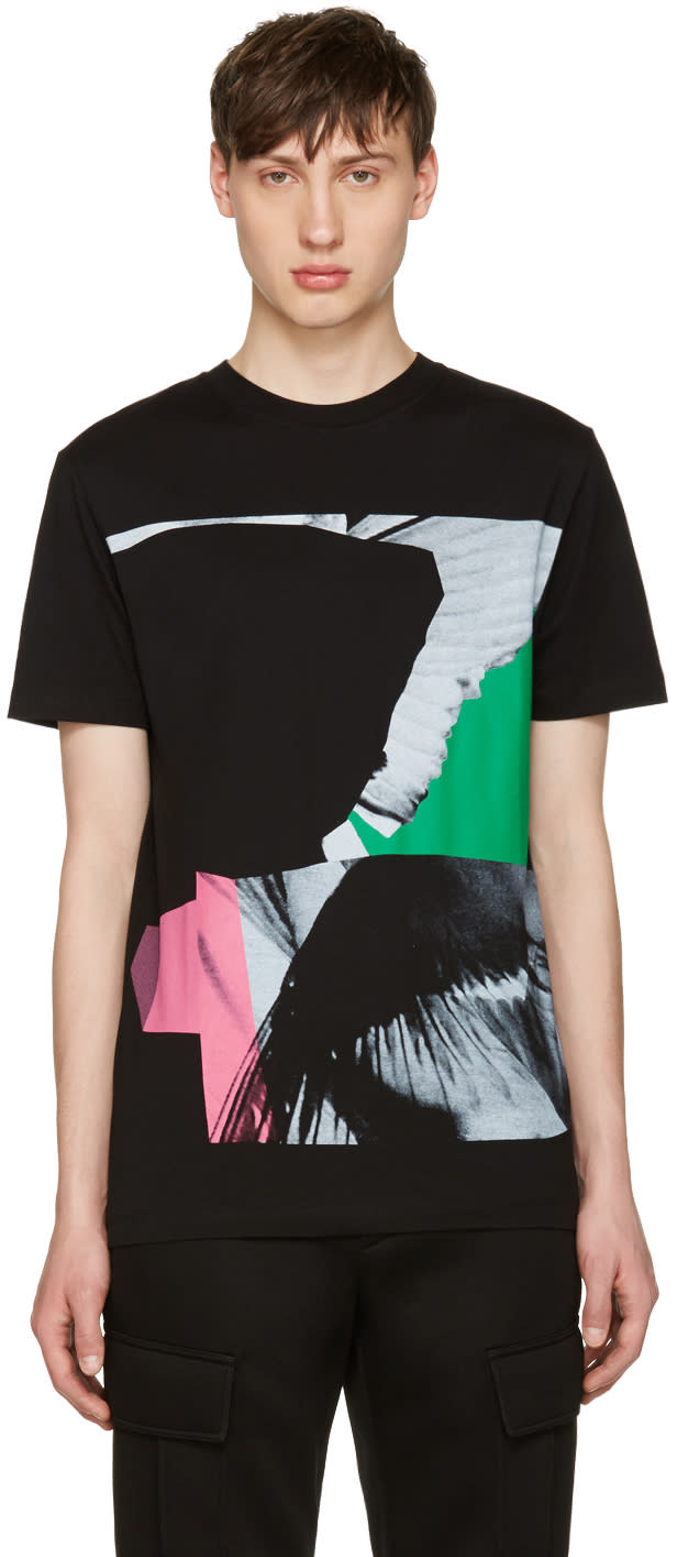 Mcq Alexander Mcqueen Black Wings Collage Classic T-shirt