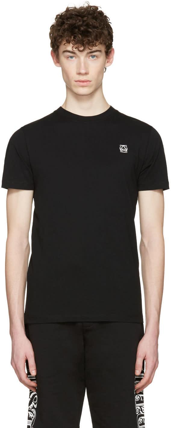 Mcq Alexander Mcqueen Black Rubberized Logo T-shirt