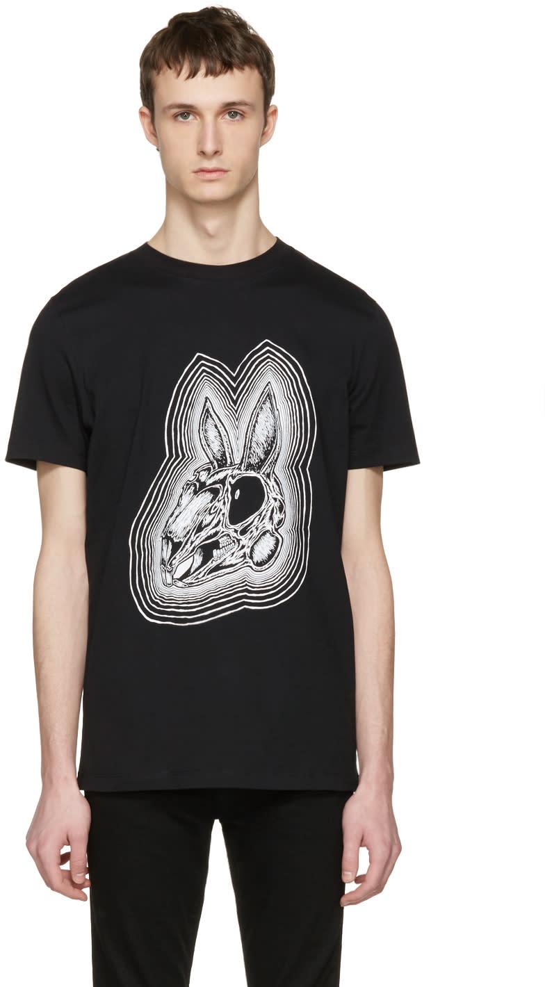 Mcq Alexander Mcqueen Black Rabbit Skull T-shirt