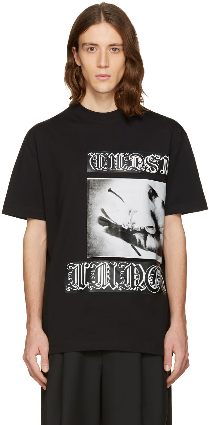 Mcq Alexander Mcqueen Black Dropped Shoulder T-shirt