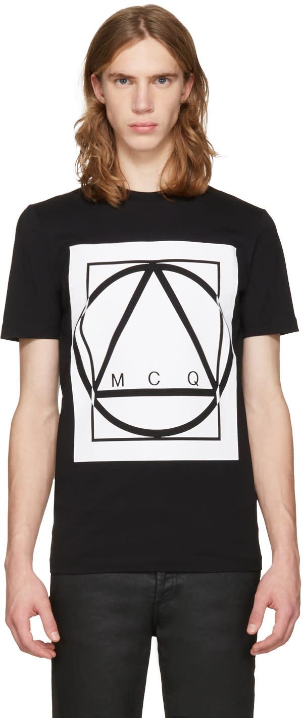 Mcq Alexander Mcqueen Black Glyph Icon T-shirt