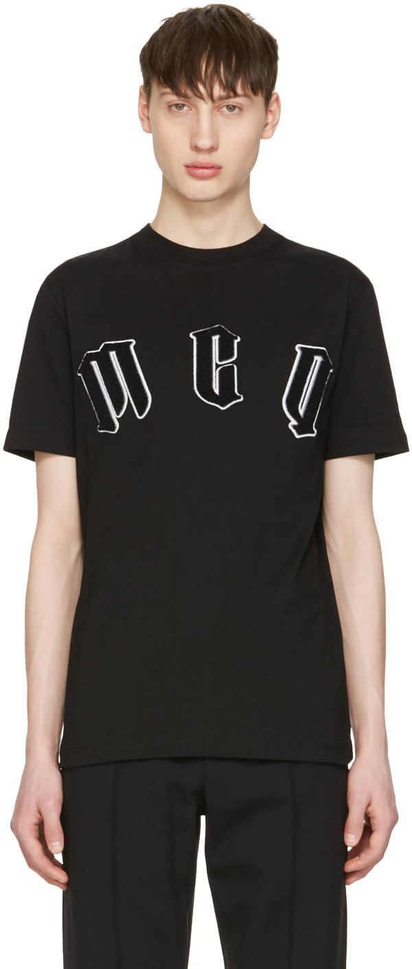 Mcq Alexander Mcqueen Black Logo T-shirt