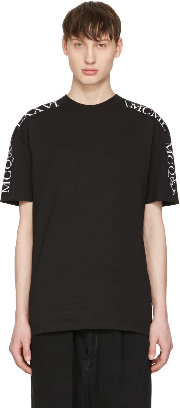 Mcq Alexander Mcqueen Black Numeral T-shirt