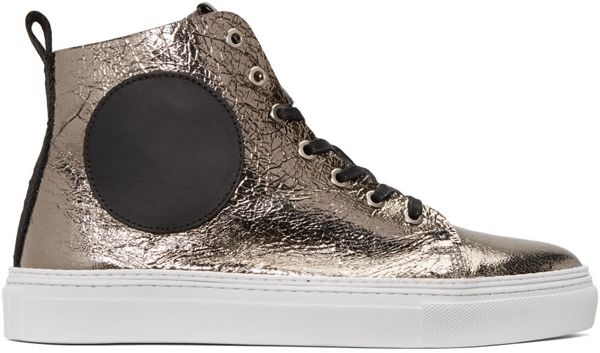 Mcq Alexander Mcqueen Gunmetal Chris Mid-top Sneakers