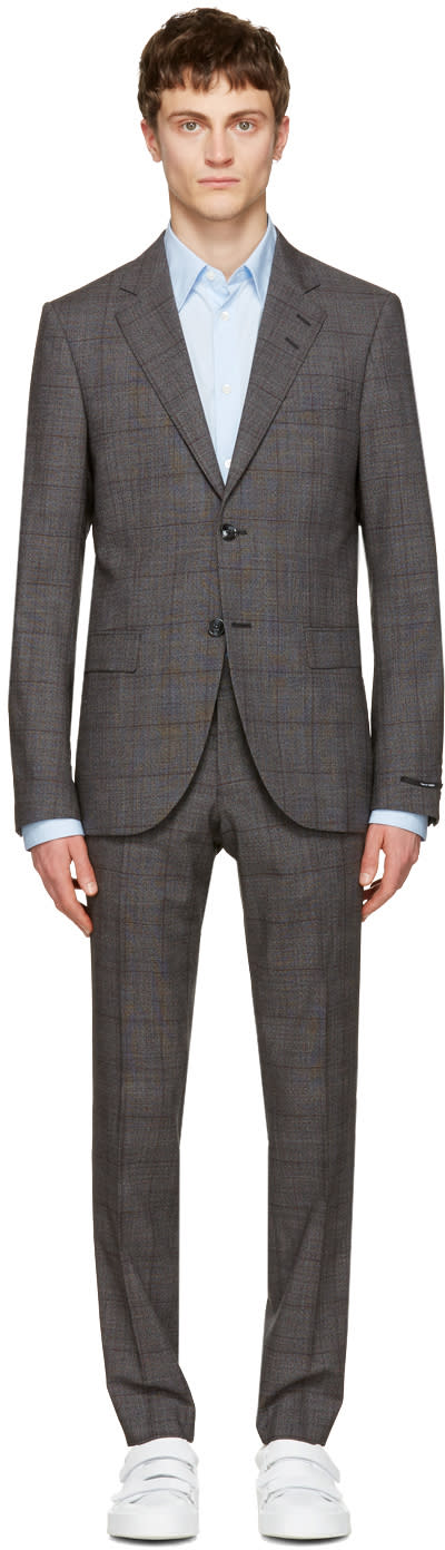 Tiger Of Sweden Grey Check Gekko Suit