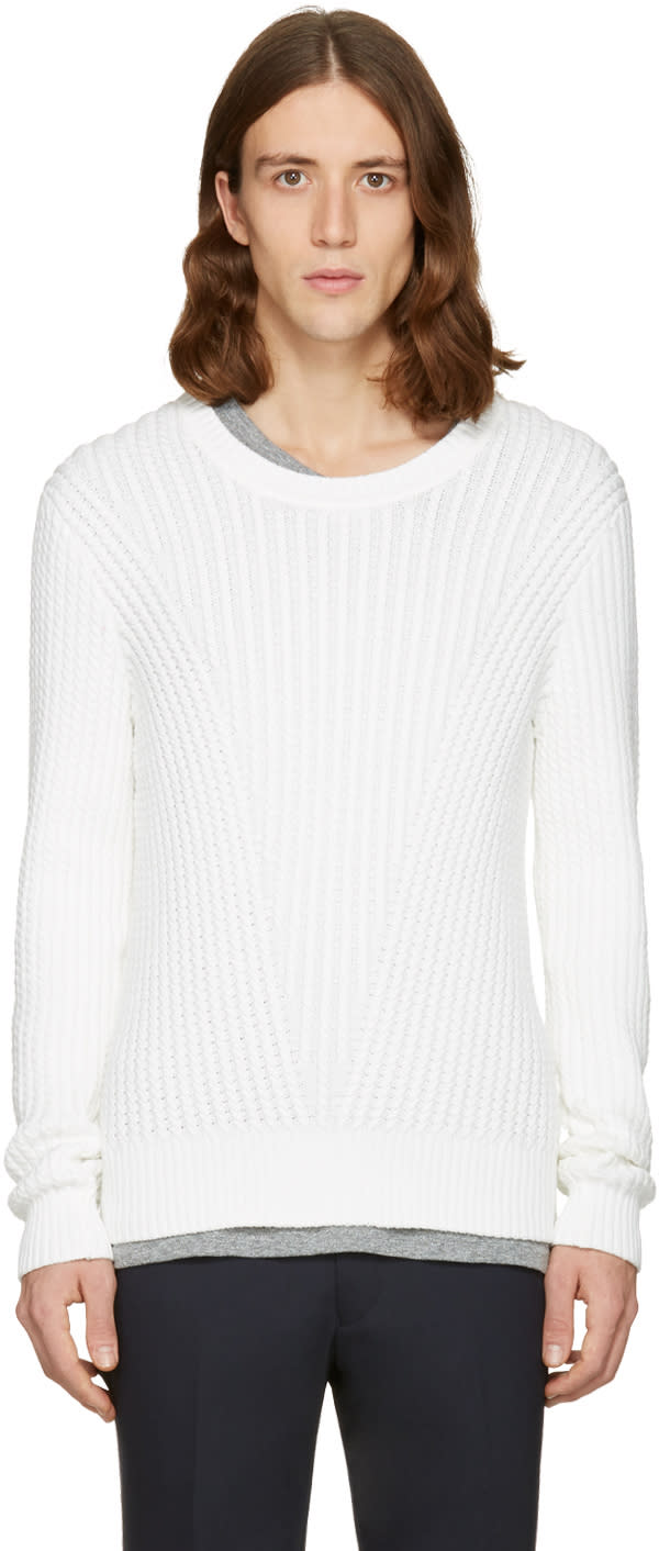 Tiger Of Sweden White Addams Crewneck