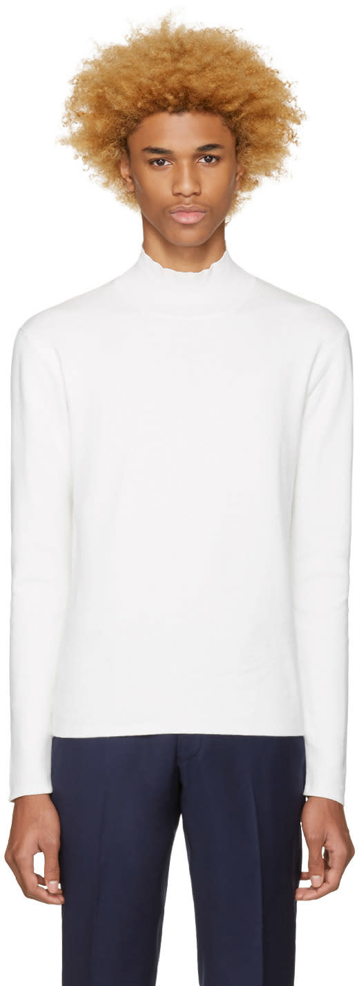 Tiger Of Sweden White North Turtleneck