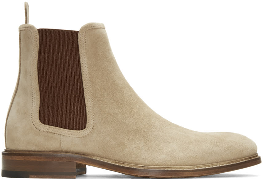 Tiger Of Sweden Tan Suede Montan Chelsea Boots