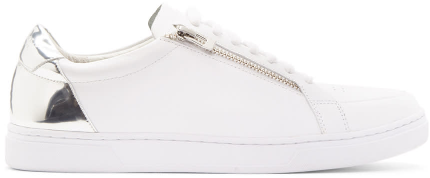 Tiger Of Sweden White and Silver Arne Sneakers