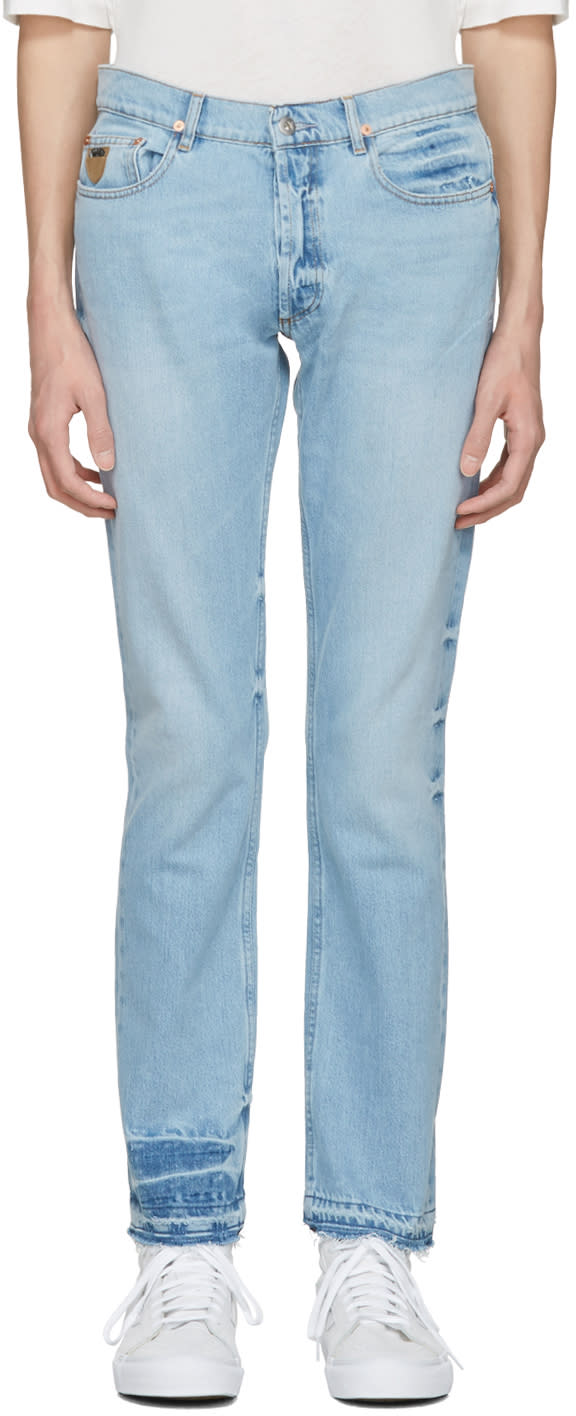 Image of April77 Blue Cult Open Double Jeans