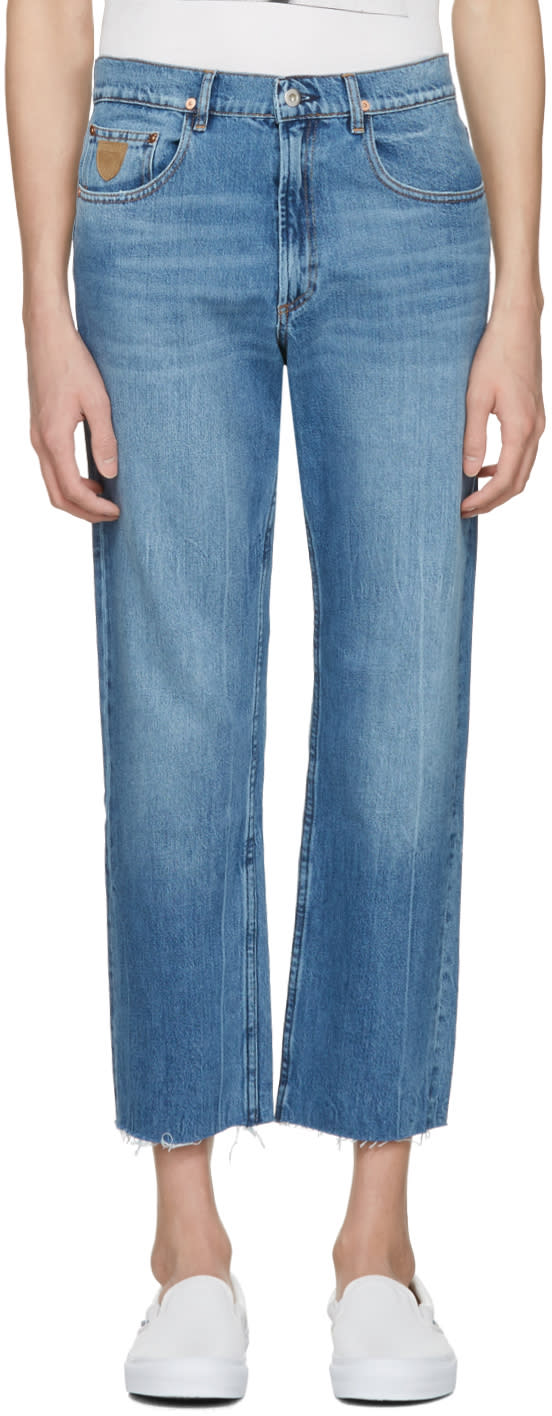 Image of April77 Blue Flip Open Skate Jeans