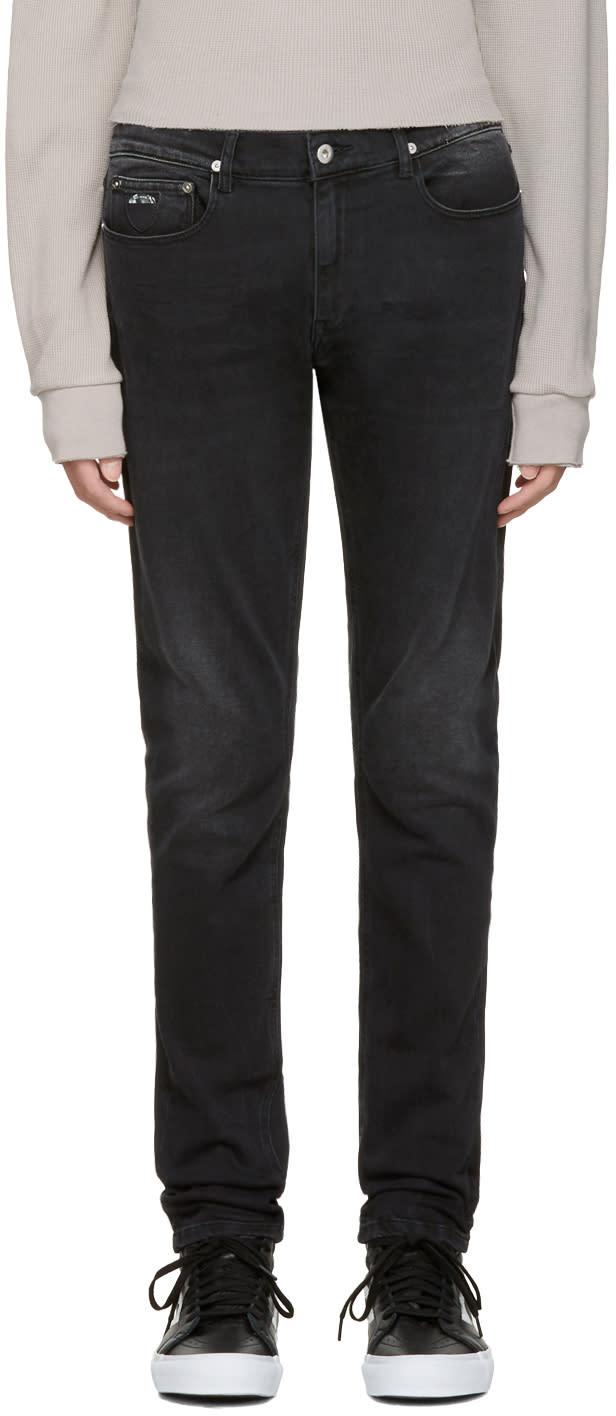 Image of April77 Black Joey Moon Flag Jeans