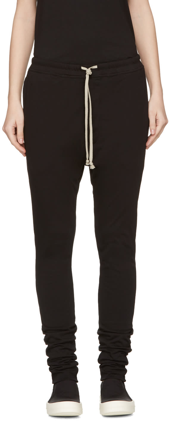 Rick Owens Drkshdw Black Double Lounge Pants