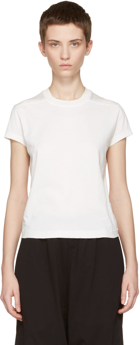 Rick Owens Drkshdw Ivory Small Level T-shirt