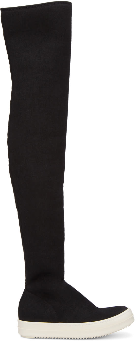Rick Owens Drkshdw Black Over-the-knee Boots