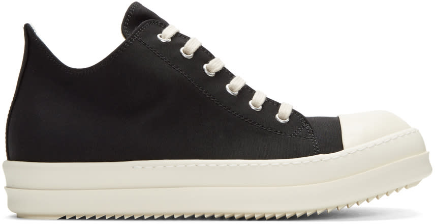 Rick Owens Drkshdw Black Nylon Low Sneakers