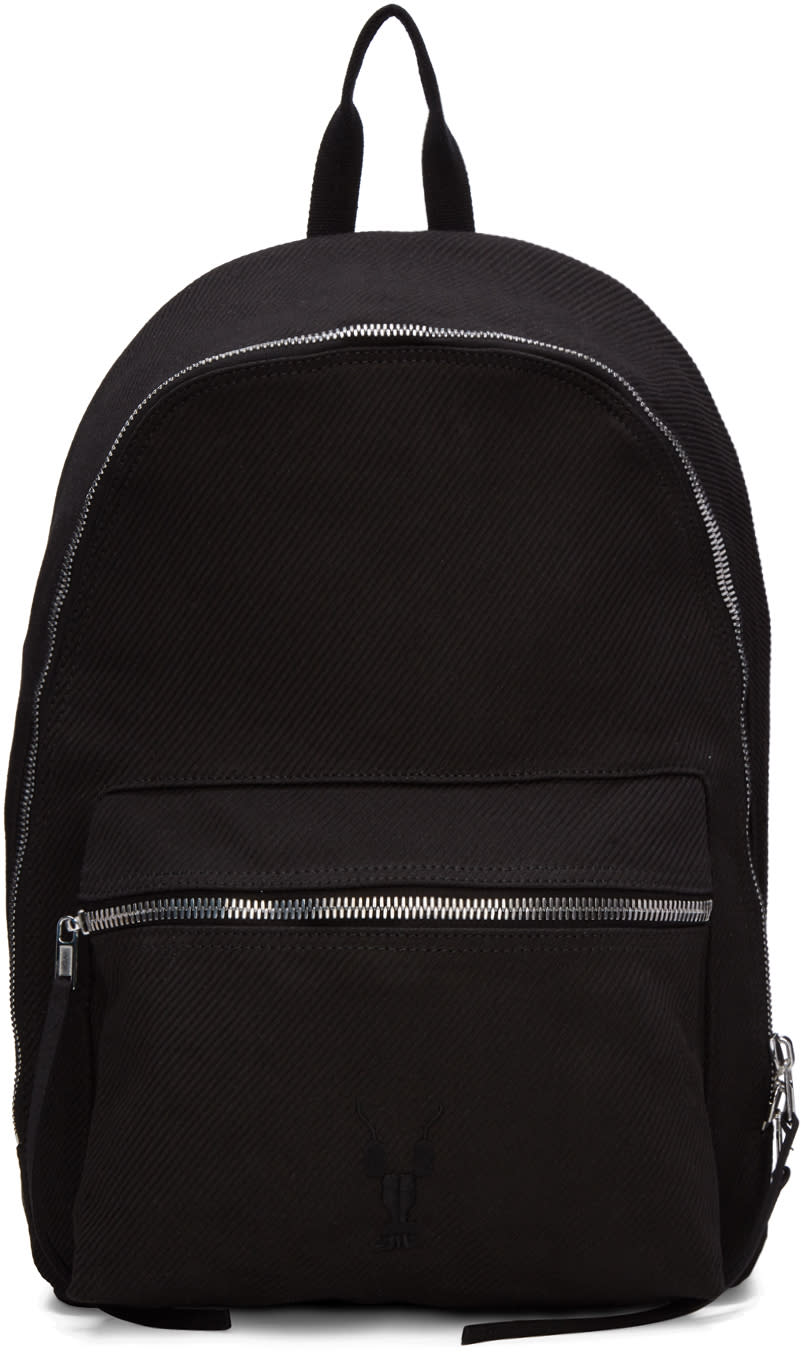 Rick Owens Drkshdw Black Twill Backpack