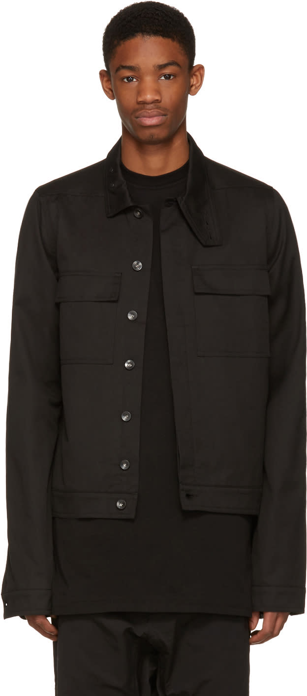 Rick Owens Drkshdw Black Nurse Jacket
