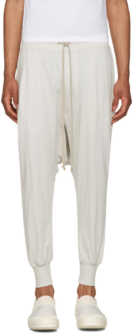 Rick Owens Drkshdw Off-white Prisoner Drawstring Lounge Pants