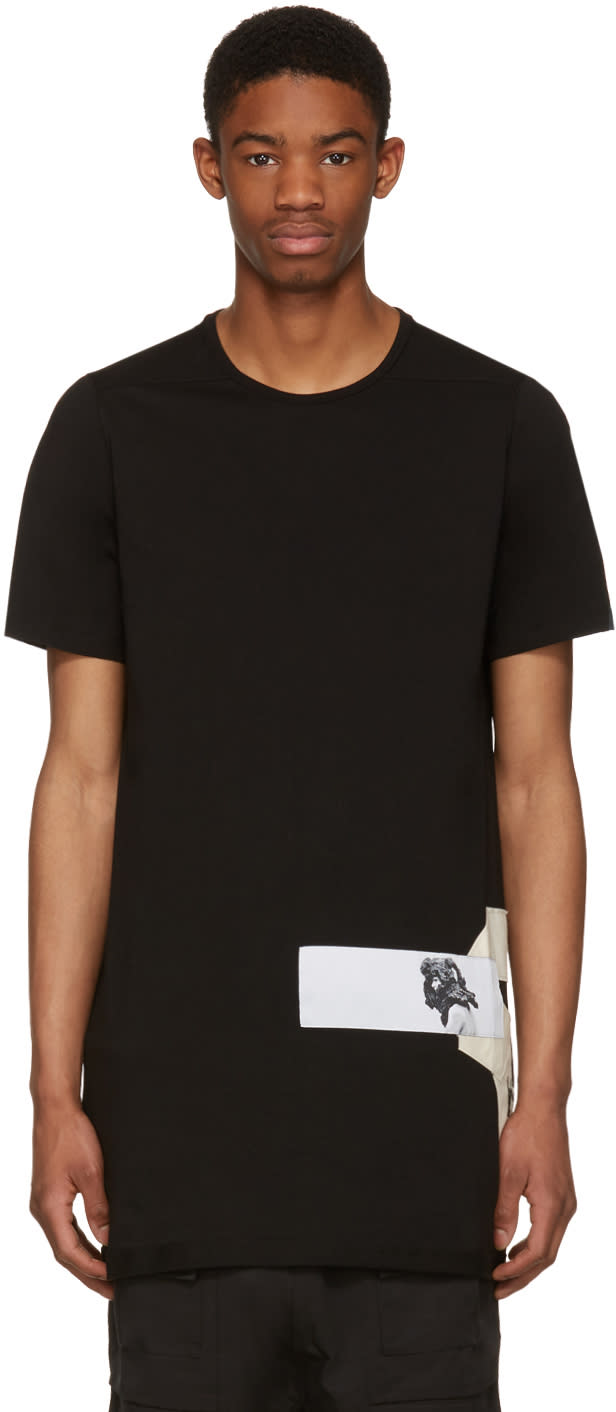 Rick Owens Drkshdw Black Level Patch Logo T-shirt