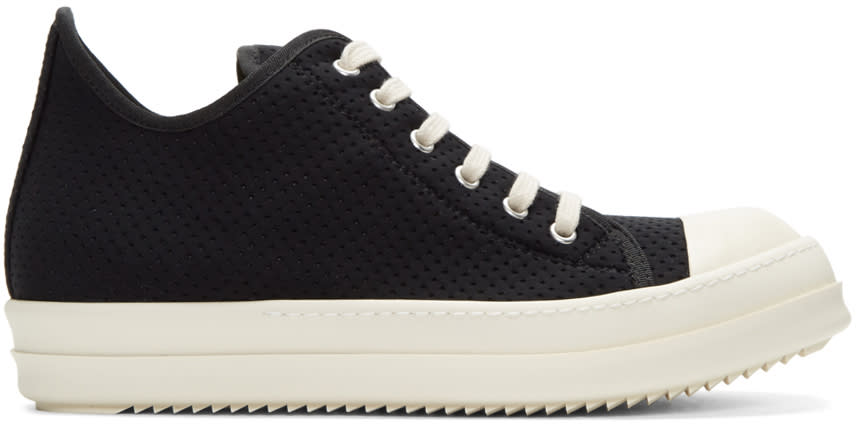 Rick Owens Drkshdw Black Perforated Low Sneakers