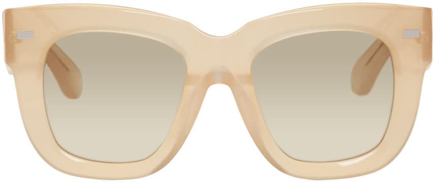 Image of Acne Studios Beige Library Metal Sunglasses