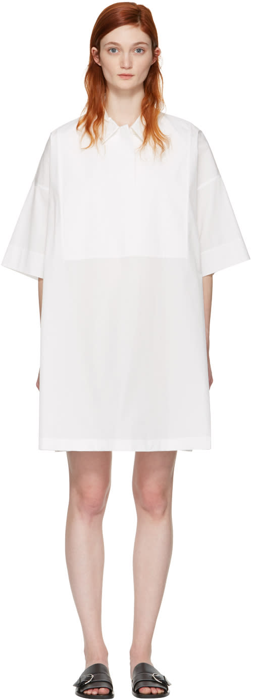 Acne Studios White Sena Dry Poplin Dress