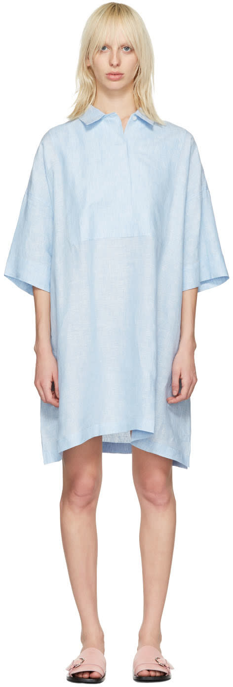 Acne Studios Blue Linen Sena Dress