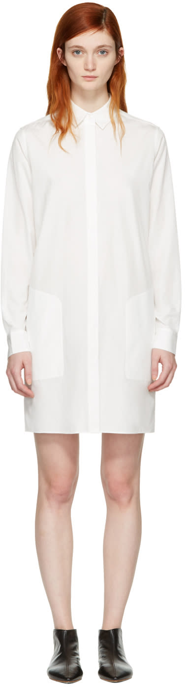 Acne Studios White Sike Shirt Dress