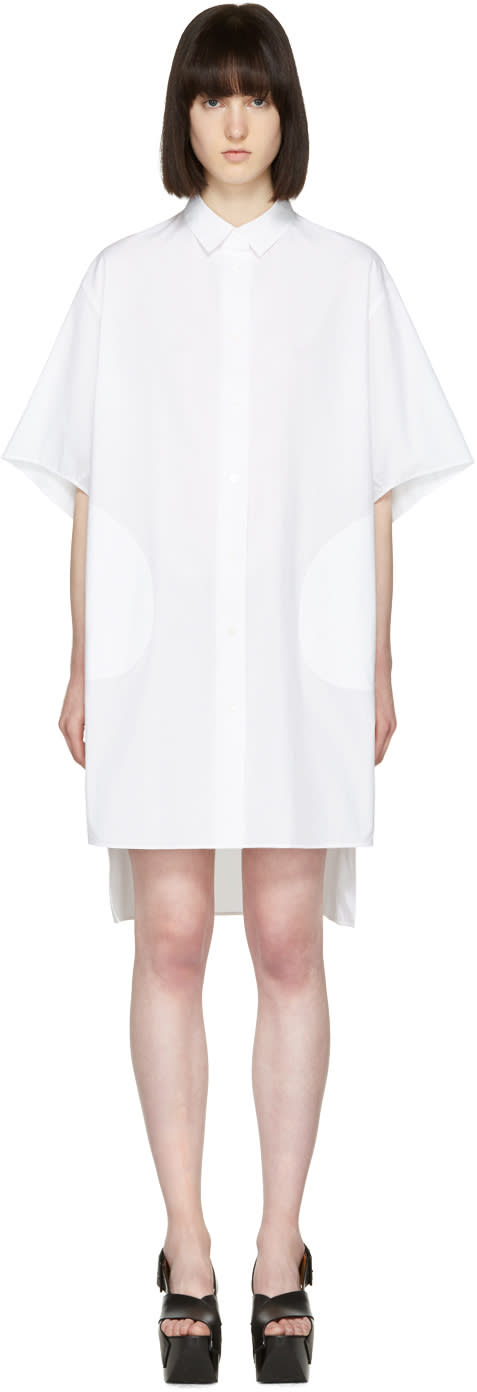 Acne Studios White Debra Shirt Dress