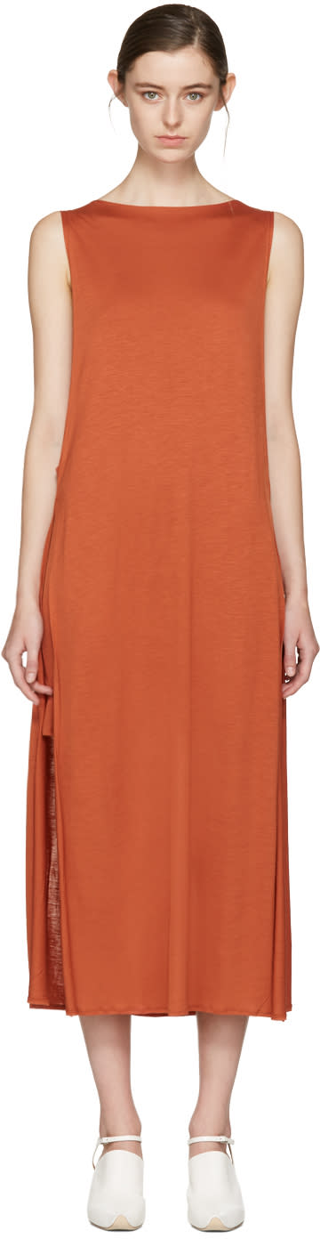 Acne Studios Orange Ethel Dress