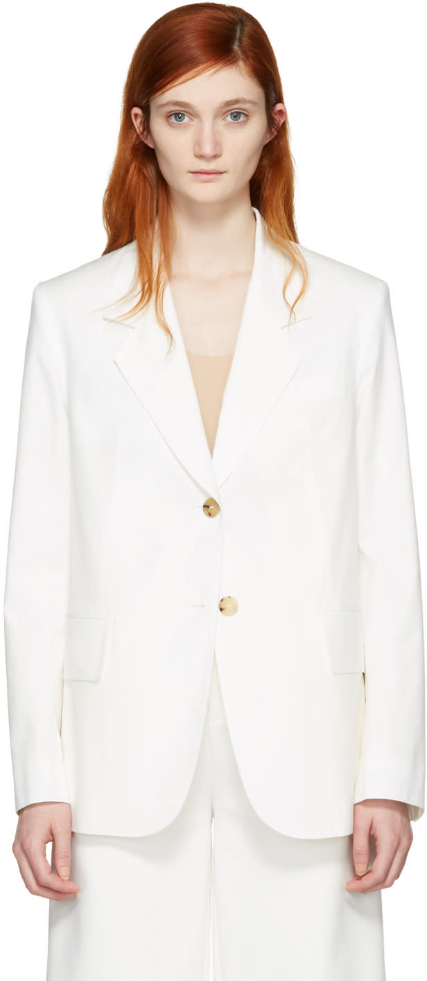 Acne Studios White Aries Blazer