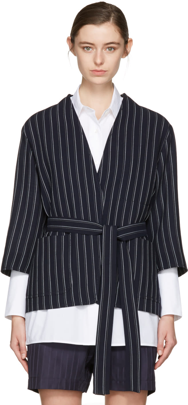 Acne Studios Navy Jada Double Pin Suit Jacket