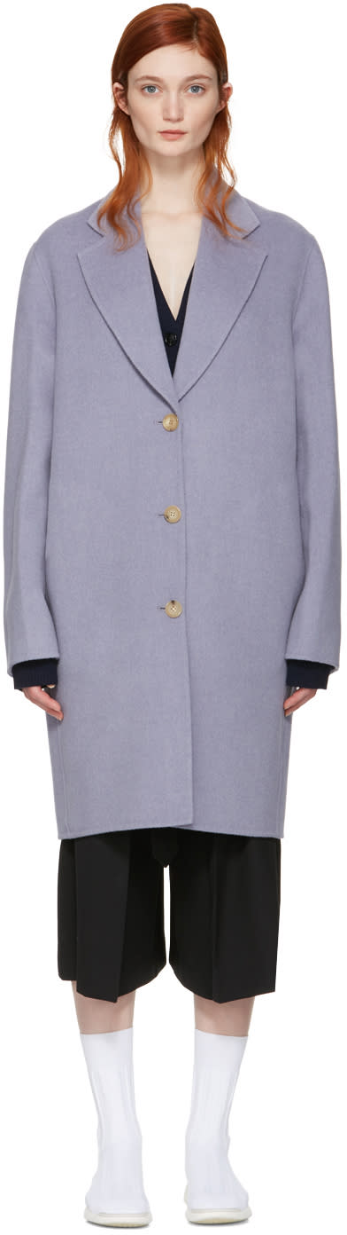 Acne Studios Purple Landi Doublé Coat