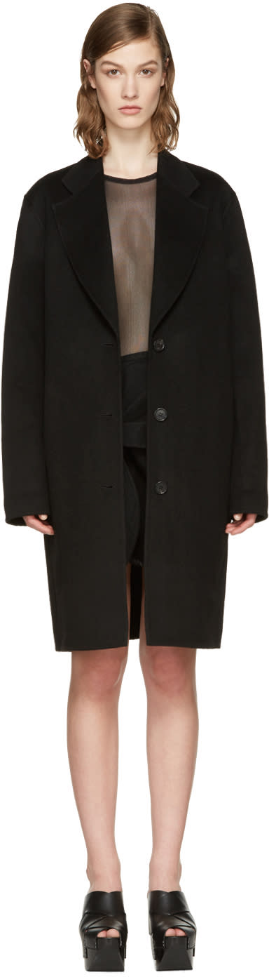 Acne Studios Black Landi Double Coat