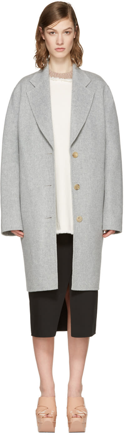 Acne Studios Grey Landi Doublé Coat