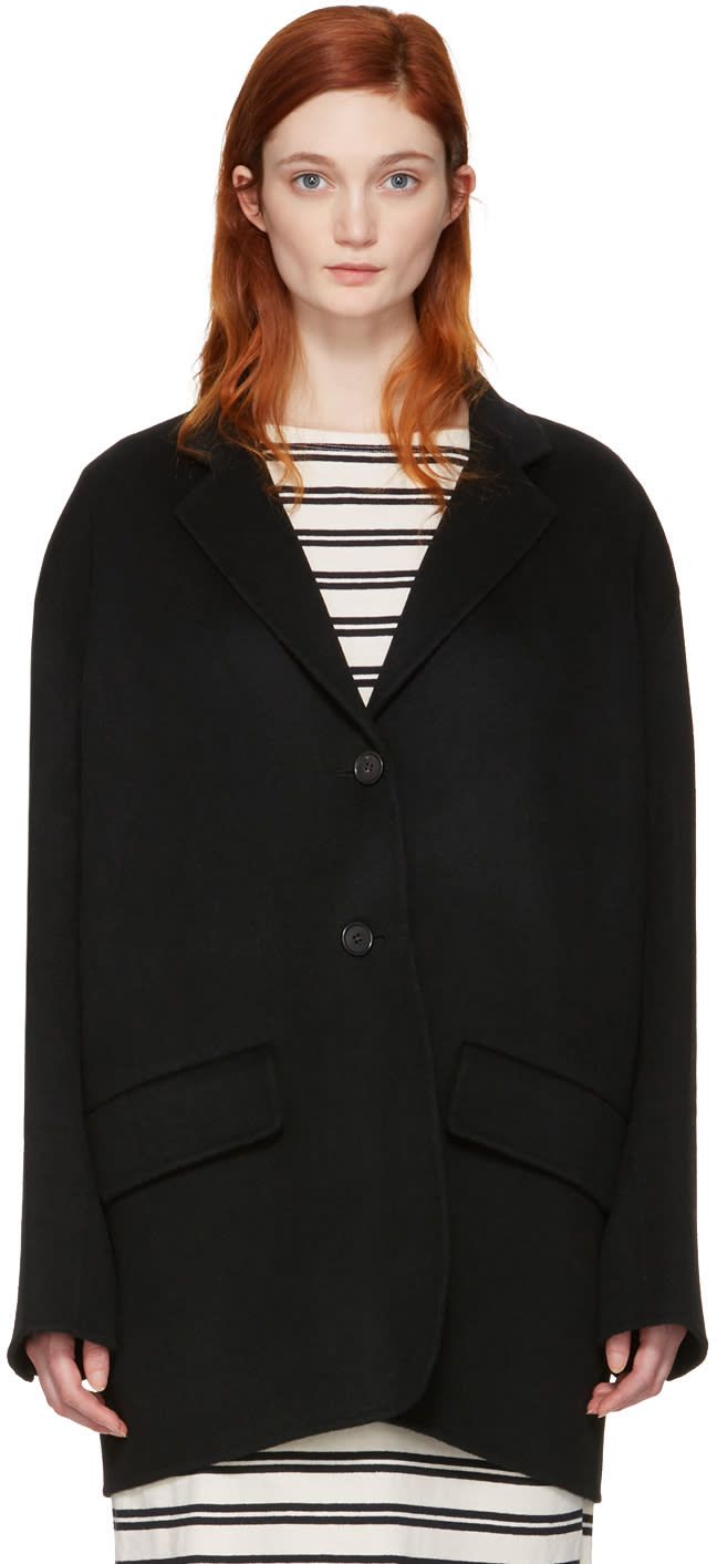 Acne Studios Black Lupi Double Coat