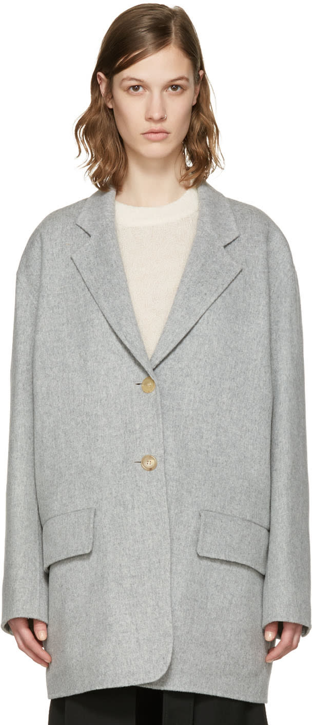 Acne Studios Grey Lupi Double Coat