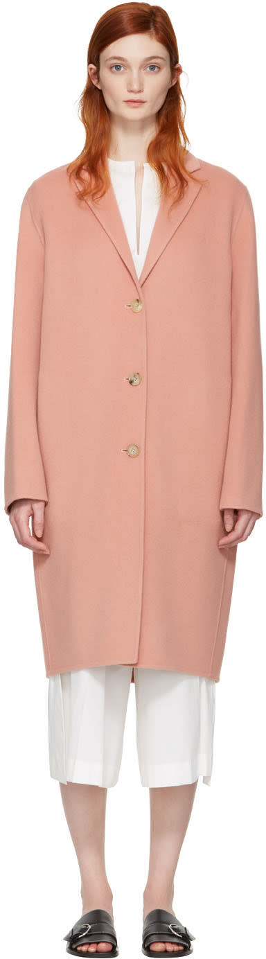 Acne Studios Pink Avalon Doublé Coat
