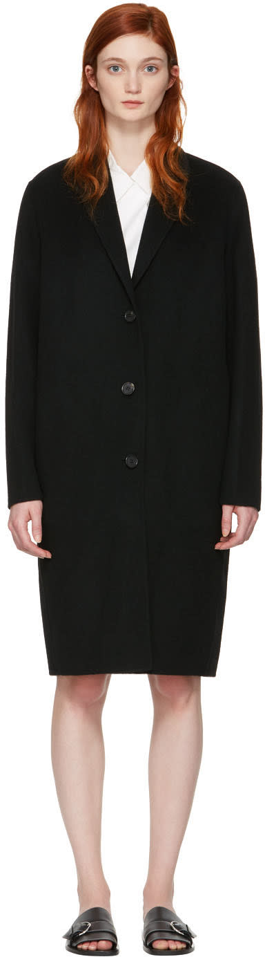 Acne Studios Black Avalon Double Coat