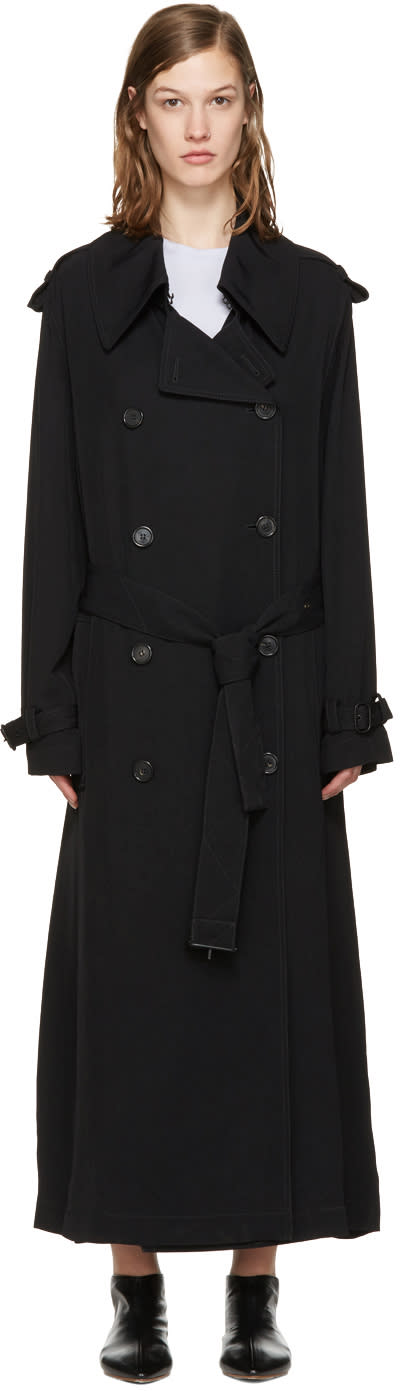 Acne Studios Black Lucie Trench Coat