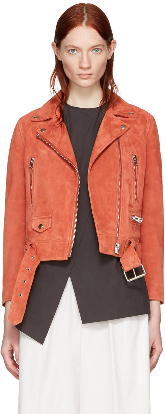 Acne Studios Pink Suede Mock Jacket