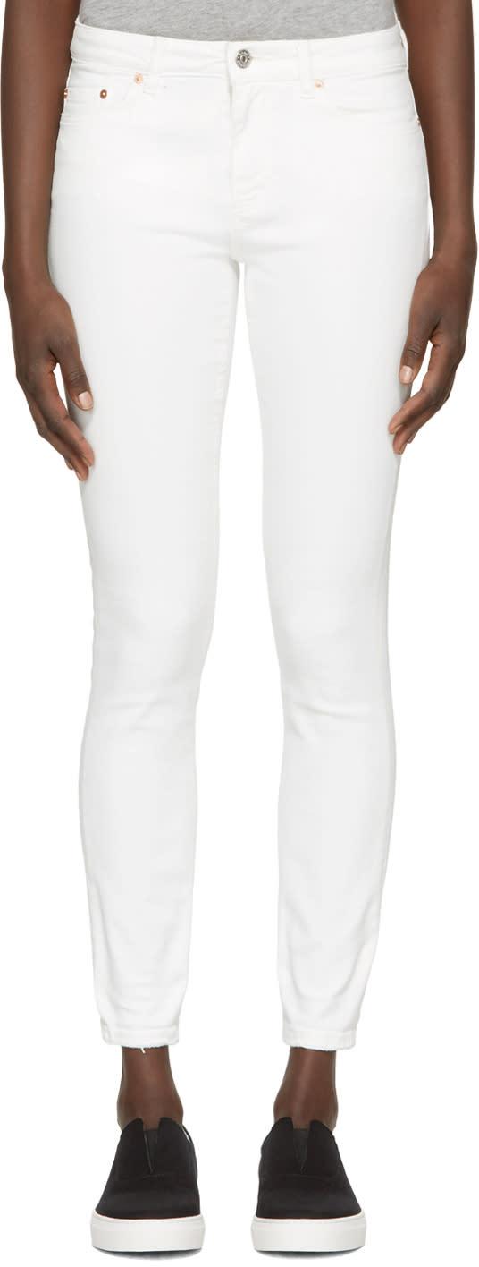 Acne Studios White Skin 5 Jeans