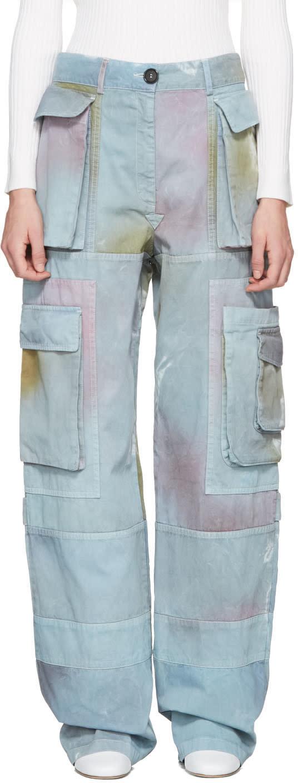 Acne Studios Blue Imogen P Cargo Pants