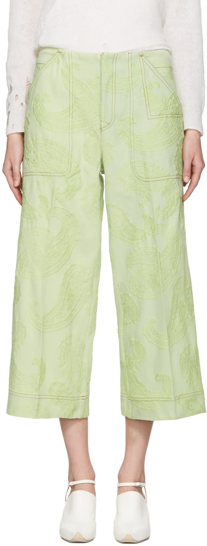 Acne Studios Green Texel Paisley Trousers