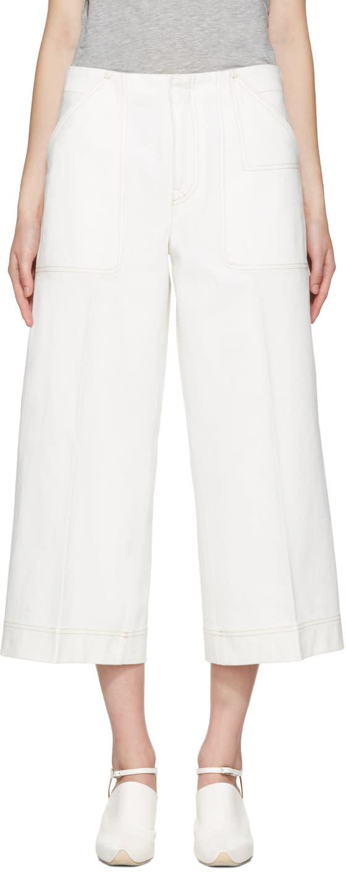 Acne Studios White Texel Trousers