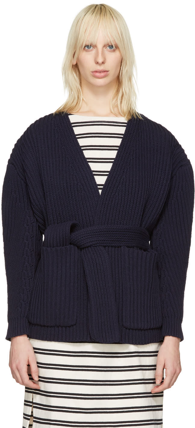 Acne Studios Navy Beate Cardigan
