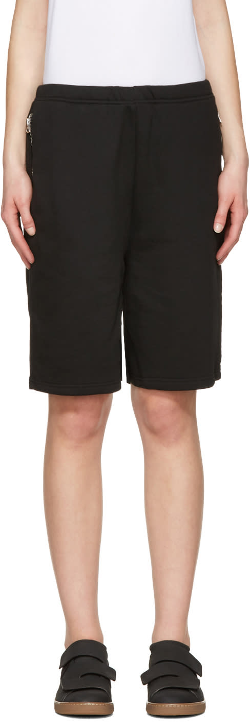 Acne Studios Black Larna Clg Shorts