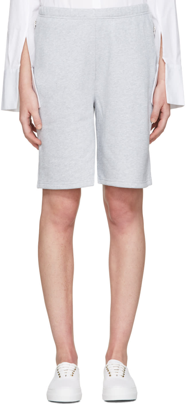 Acne Studios Grey Larna Clg Shorts